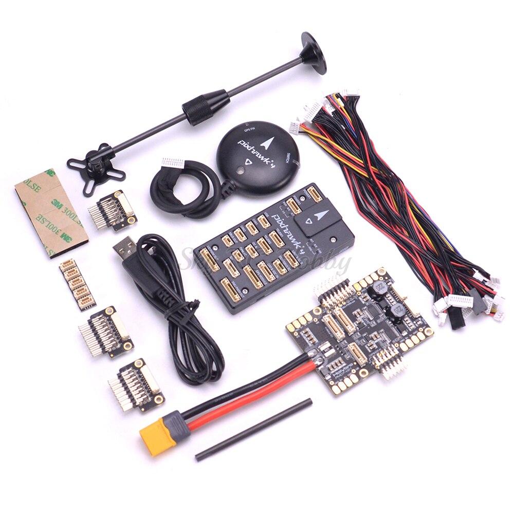 Pixhawk 4 PX4 commande de vol et MODULE GPS M8N & PM07 carte de gestion de l'alimentation kit Combo pilote automatique pour quadrirotor RC FPV