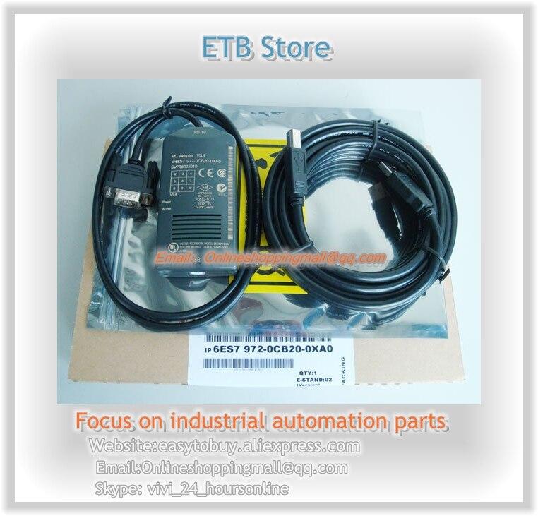 S7-200/300/400 PLC Full Rate USB/MPI PC Adapter MPI/DP/PPI Programming Cable Profibus Win7 64bit Best Selling 6ES7 972-0CB20-0X