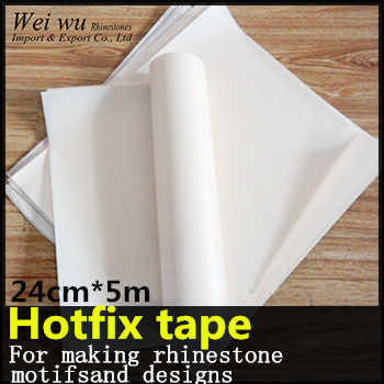 24cm x 5 meters PVC Plastic With PET Glue Good Quality Hotfix Transfer  Paper Rhinestone Tape 437522d3ed2a