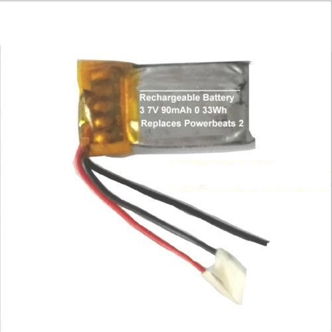 Bateria para Batidas Bateria sem Fio Lote Ttvxo 90 Mah Powerbeats Ahb481221 2 5 Pçs –
