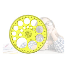 360 Metric Angle Round Ruler Template Circle Collapsible Compass Protractor School Drawing Supplies DIY Production Tools