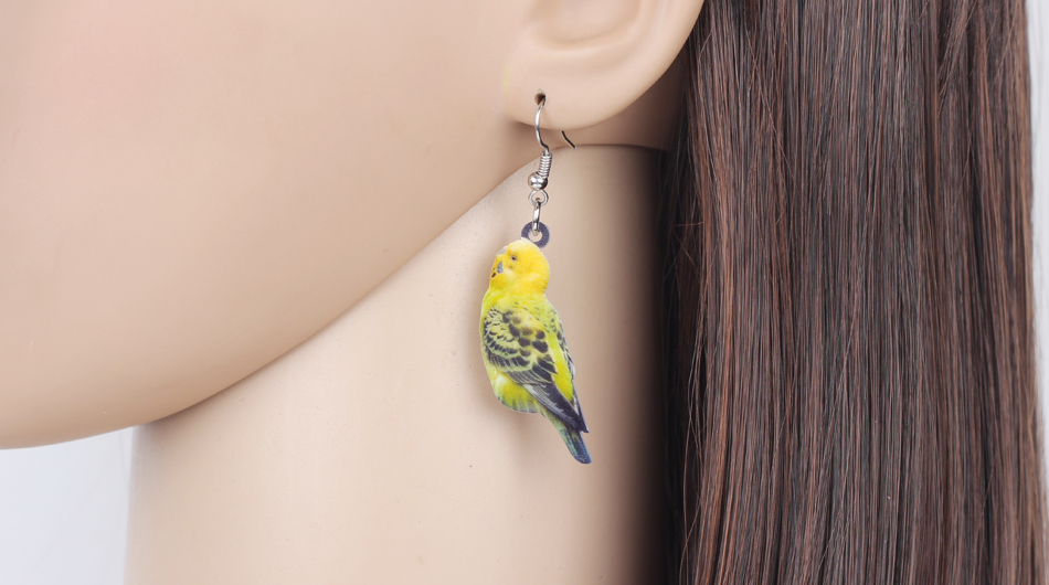 Bonsny Acrylic Flying Voilet Sabrewing Hummingbird Bird Earrings Big Long Dangle Drop Fashion Animal Jewelry For Women Girls Kid 16