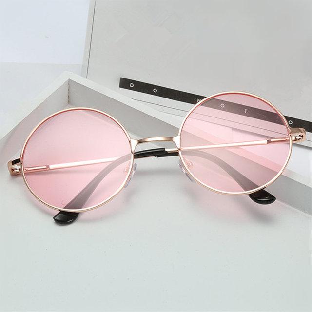 Óculos Redondos Óculos De Sol Das Mulheres Dos Homens Óculos de Sol Hippie  UVLAIK Espelho Moda 81f89f23c3