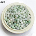 JINSE Al Por Mayor 50 unids cuentas de jade de Birmania naturales dispersos granos redondos DIY accesorios para la joyería collar pulsera SJB004