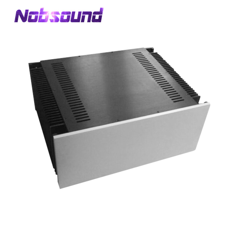 Nobsound Large-sized Aluminum Chassis Class A Power Amplifier Enclosure DIY Cabinet Case nobsound hi end audio noise power filter ac line conditioner power purifier universal sockets full aluminum chassis