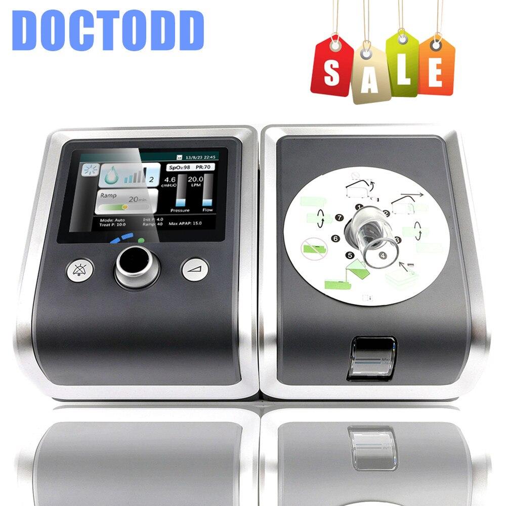 Doctodd GII CPAP Auto E-20A-O APAP máquina para el ronquido terapia Anti ronquido Apnea del sueño OSAHS OSAS APAP con máscara S M L tamaño