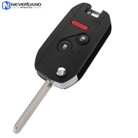 Neverland 2 1 Buttons Folding Replacement Auto Remote Car Key Fob 313 8Mhz ID46 Chip Refit
