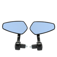 Pair Of Motorcycle End Bar Rearview Mirror Universal 7 8 Handle Bar 360 Degree Swivel Angle