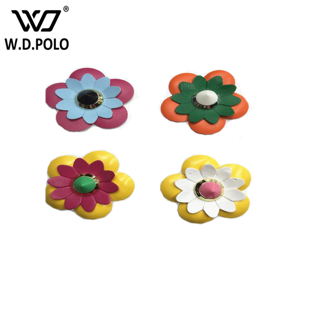 WDPOLO Colored ABS leather flower bag parts bag button DIY handbags strap accessory simple and chic brand design hot selling