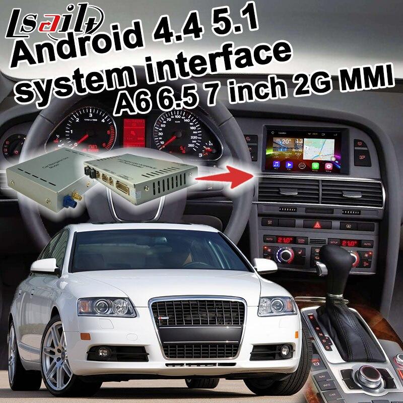 Android GPS навигации коробка для <font><b>Audi</b></font> A6 2 г <font><b>MMI</b></font> система 2005-2009 видео интерфейс коробка Зеркало Ссылка 6.5 7 дюйм(ов) сенсорное управление