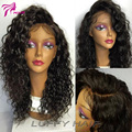 Luffy Virgin Brazilian Full Lace Human Hair Wigs With Baby Hair Water Wave Human Hair Glueless Lace Front Wigs For Black Women