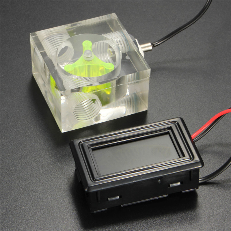 3 Way Flow Meter Water Cooled Current Meter with Thermometer Water Liquid Cooling LED Light Thermometer G1/4 Threaded Connector water cooling flow meter acrylic 2 and 3 ways g1 4 speedometer thread with no joints cooling kit fittings