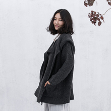 Xianran Women Sweater Coat Knit Cardigan Loose Casual Detachable Hat Collar Plus Size Outwear High Quality Free Shipping