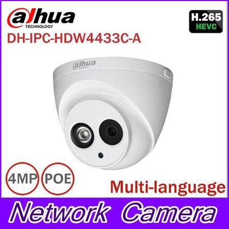 Dahua IPC-HDW4433C-A Built-in MIC H265 upgrade from IPC-HDW4431C-A HD 4MP IR 30m network IP Camera security cctv Dome Camera in stock dahua ipc k200wn 2mp ip66 hd cube network camera