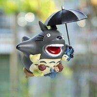 Miyazaki Hayao Komşum Totoro Şekil Oyuncak 15 cm Uçan Totoro Şemsiye Reçine Action Figure Klasik Çocuk Oyuncakları Bahçe Süsleri