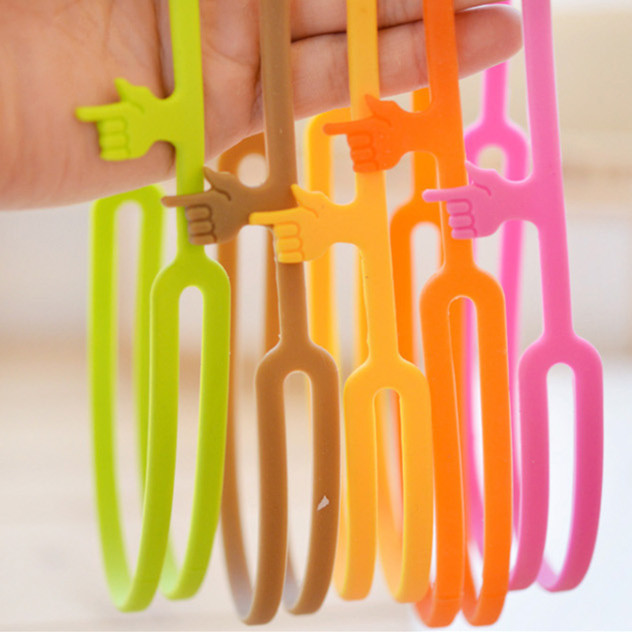 PY011 Silicone Bookmarks Elasticity Bookends Book Clip Organizer Reader Tool office Items Stuff Accessories Supplies Products