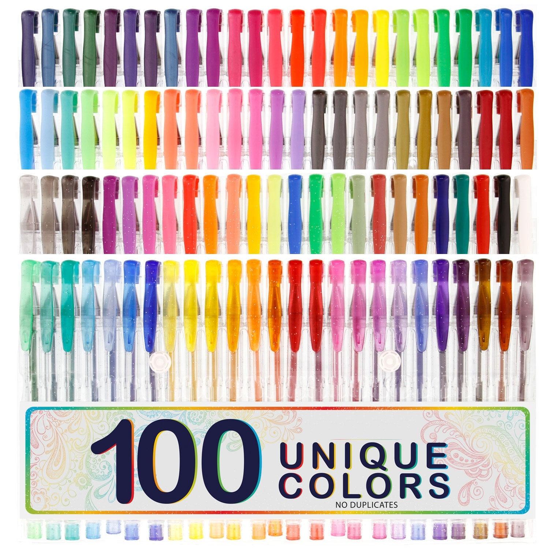100 цветов рисунок пером канцелярские Набор для рисования комплект блеск металлик Neon пастельные цвета лучший подарок для ребенка Z9001