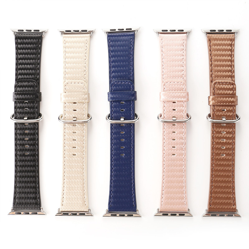 Hot Sale for Apple Watch Carbon Fiber Leather Strap for Apple Watch38/42mm Leather Strap