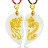 Lovers of gold and Tian Baiyu heart shaped dragon heart pendant jewelry boutique forever small pendant