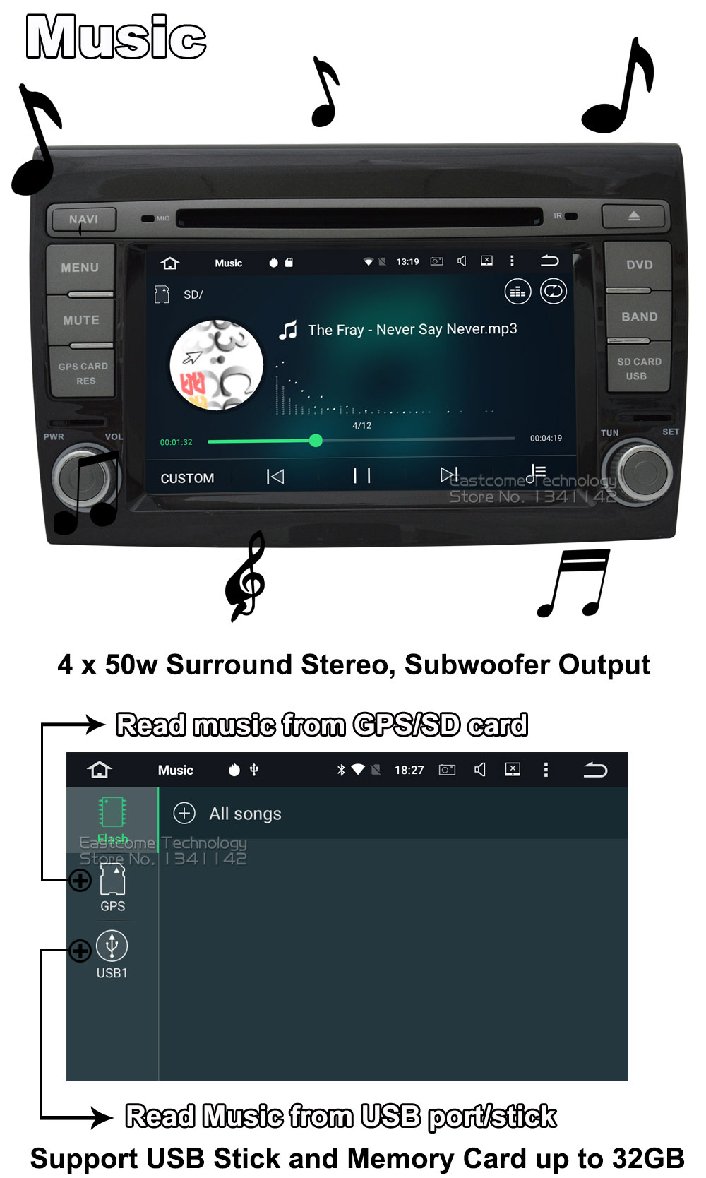Clearance 1024*600 8 Cores Octa Core Pure Android 6.01 Car DVD Player For Fiat Bravo 2007 2008 2009 2010 2011 2012 With Rear View Camera 17