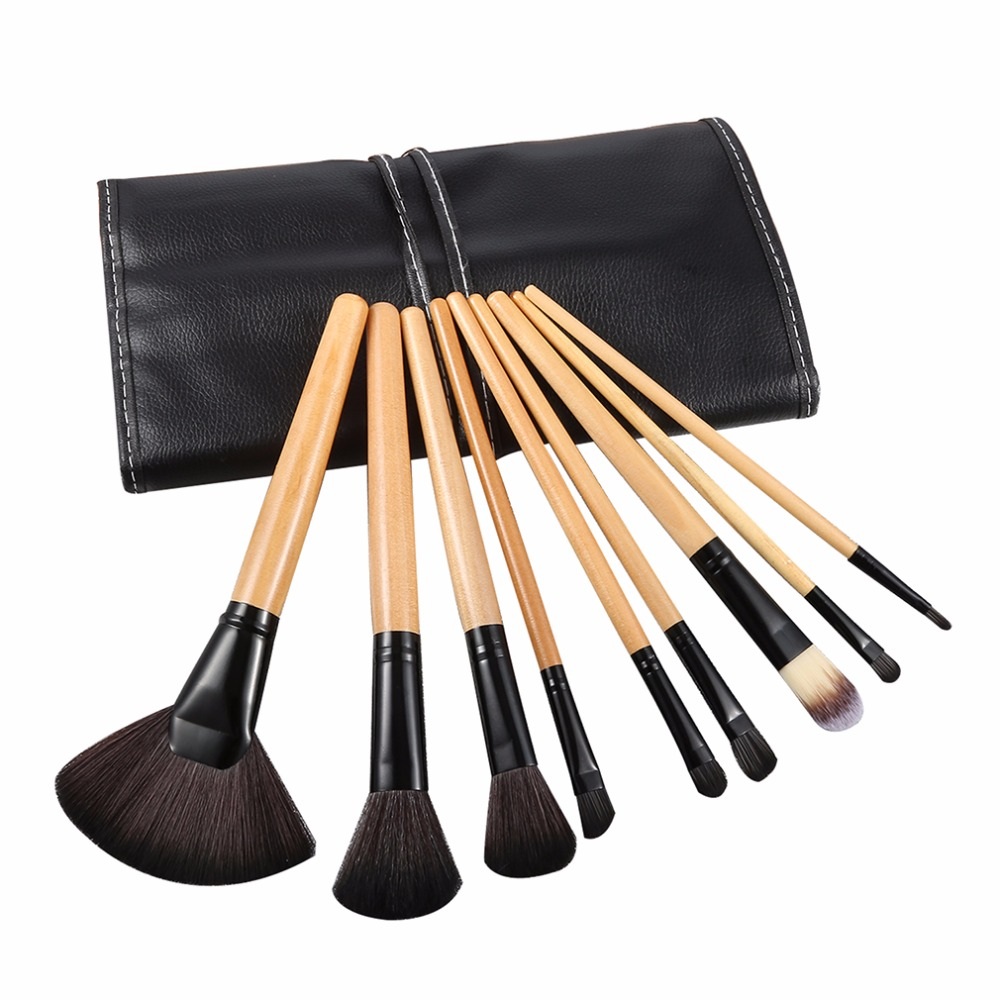 24Pcs professional make up brushes Eyeshadow Powder Brush Set Cosmetic makeup brushes Tool kit brushes with Leather Case Fashion msq 15pcs professional makeup brushes set foundation fiber goat hair make up brush kit with pu leather case makeup beauty tool