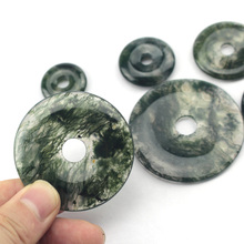 45mm donut shape moss agates beads natural stone beads DIY loose beads for jewelry making 1 pcs free shipping wholesale !