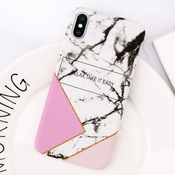 iPhone X Marble Case Pink Series Slim-Fit Ultra-Thin Anti-Scratch