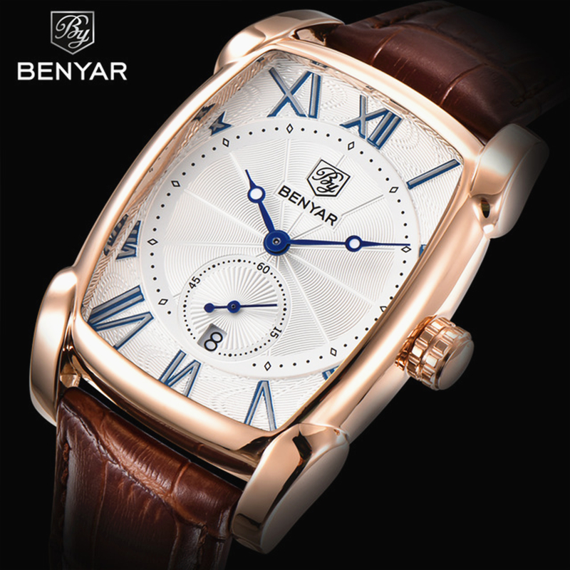 BENYAR Brand Luxury Men's Watch Date 30m Waterproof Clock Male Casual Quartz Watches Men Sport Wrist Watch Man erkek kol saati splendid brand new boys girls students time clock electronic digital lcd wrist sport watch