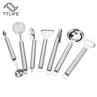 TTLIFE 7 PCS Set Multi Function Stainless Steel Cookware Sets Kitchen Tools Cook Ware Baking Supplies