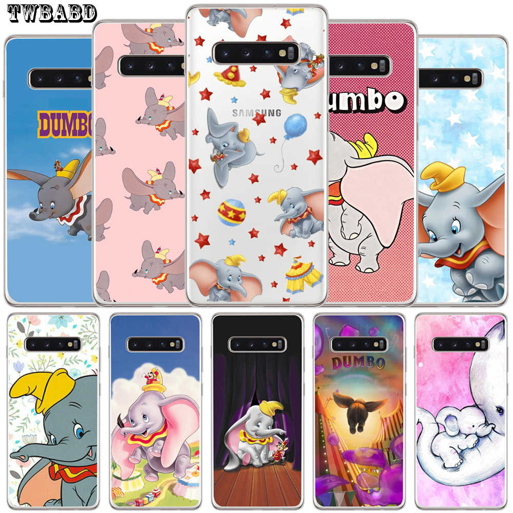 Cute Dumbo Soft transparent Capa Coque For Samsung S9 S8 S10 Plus S7 S6 Edge S10 Lite Note 8 9 Cover Etui