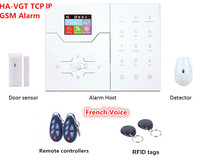 Color LCD Display French Menu RJ45 TCP IP Alarm GSM Alarm Smart Home Security Alarm System With Touch Screen Panel|Alarm System Kits|Security & Protection -
