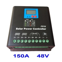 150A Solar Controller 48V PV panel Battery Charge Controller Regulator for 7200W Solar Power Home Use System