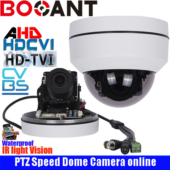 2.5 Metal Pan-Tilt-Zoom AHD CVI TVI CVBS Speed dome Camera 2.0MP 3x Auto zoom IR 30M security camera new ahd tvi cvi cvbs 1080p mini ir ptz night vision zoom dome camera zoom lens dome camera with 3x optical zoom 2mp motorized