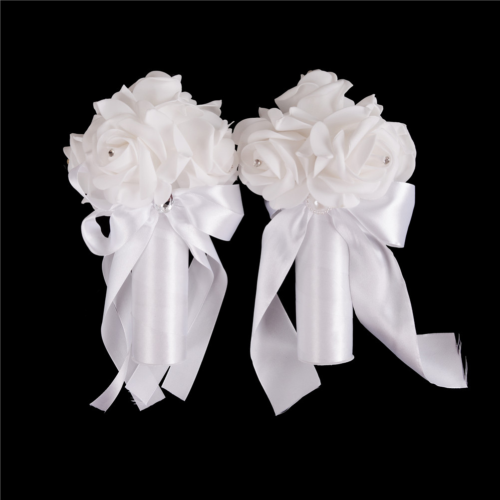 New cheapest rose bridesmaid wedding foam flowers rose bridal new cheapest rose bridesmaid wedding foam flowers rose bridal bouquet ribbon fake wedding bouquet de noiva in artificial dried flowers from home garden izmirmasajfo