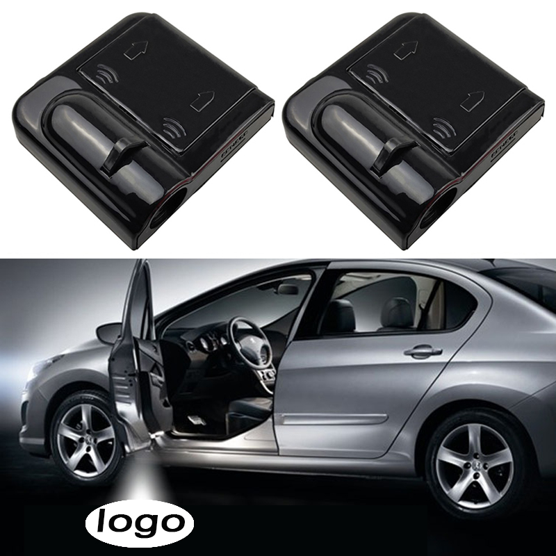 2pcs Wireless Car Door Welcome Light Led Laser Projector Logo Ghost Shadow Light for Volkswagen Toyota Universal Courtesy Lamp