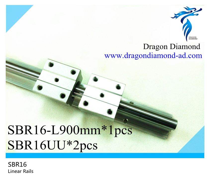ФОТО 1pcs linear rails slide support SBR16 -900mm rails+2pcs SBR16UU Linear Slide Bearing blocks For CNC Router