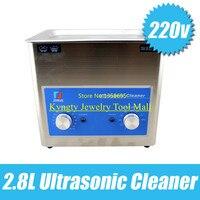 2.8L двойной регулируемая температура, стиральная машина, ювелирные изделия, ультразвуковой чистки