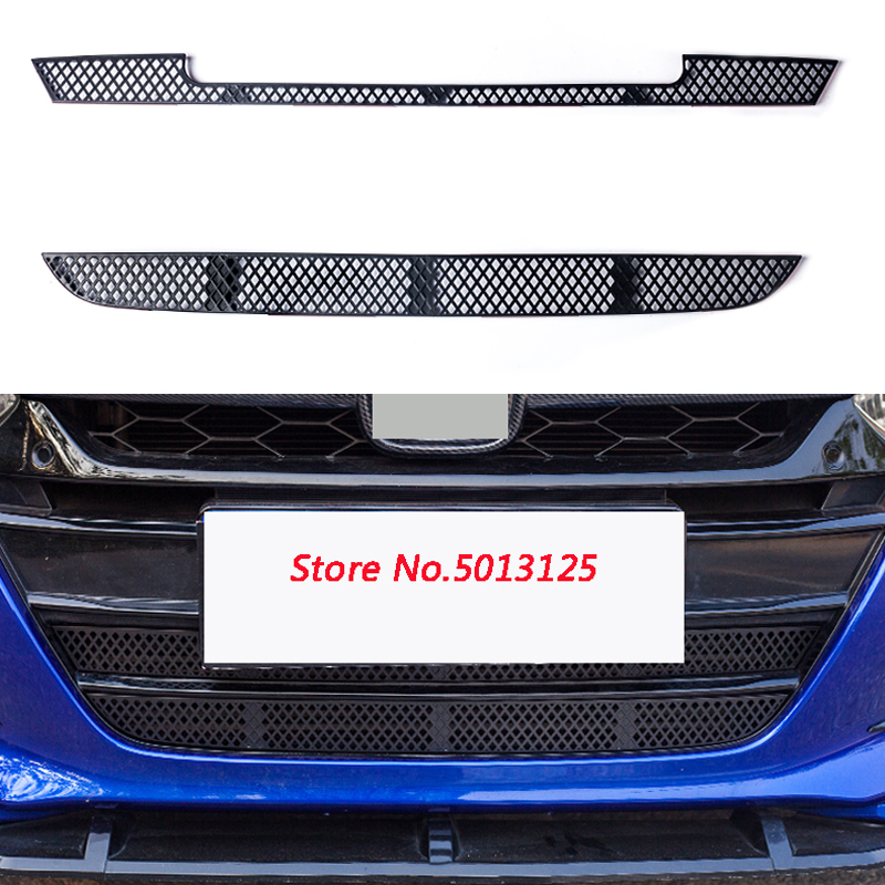 Car Insect Screening Mesh Front Grille Insert Net <font><b>Accessories</b></font> For <font><b>Honda</b></font> <font><b>Accord</b></font> 10th <font><b>2018</b></font> 2019 2020 Car Stylings image