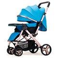 Высокая Пейзаж Двусторонняя сидячая Лежащая коляска для путешествий простая модная детская коляска