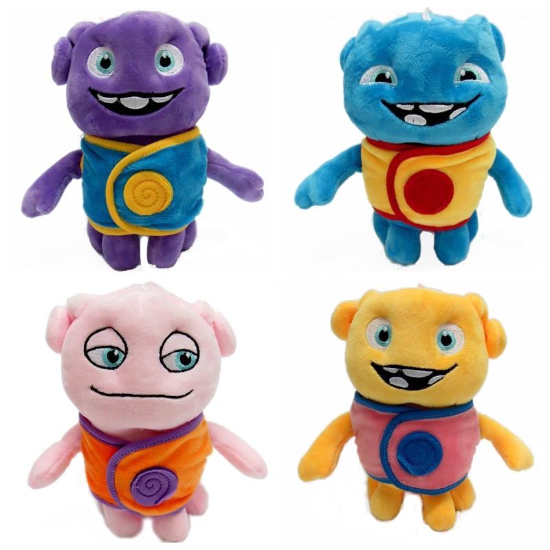 4pcs BOHS Home Children Favourite Stuffed Plush Boov Oh Boov Alien Toy Super Soft Lovely Kid Captain Figure Toy 20cm