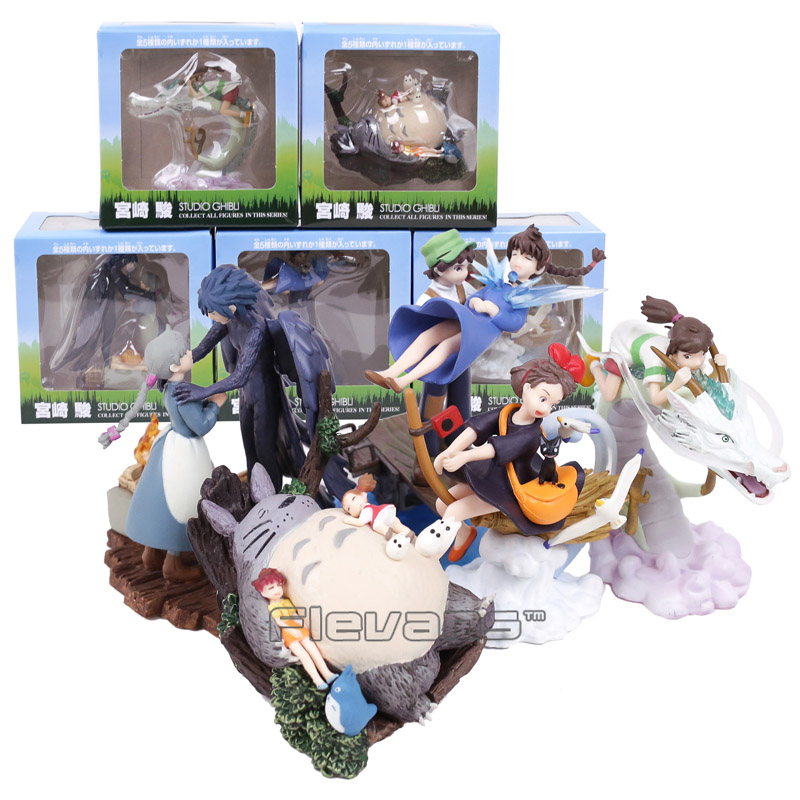 Spirited Away The Castle in the Sky Kikis Delivery Service Totoro Howls Moving Castle PVC Figures Collectible Toys 5pcs/lotSpirited Away The Castle in the Sky Kikis Delivery Service Totoro Howls Moving Castle PVC Figures Collectible Toys 5pcs/lot