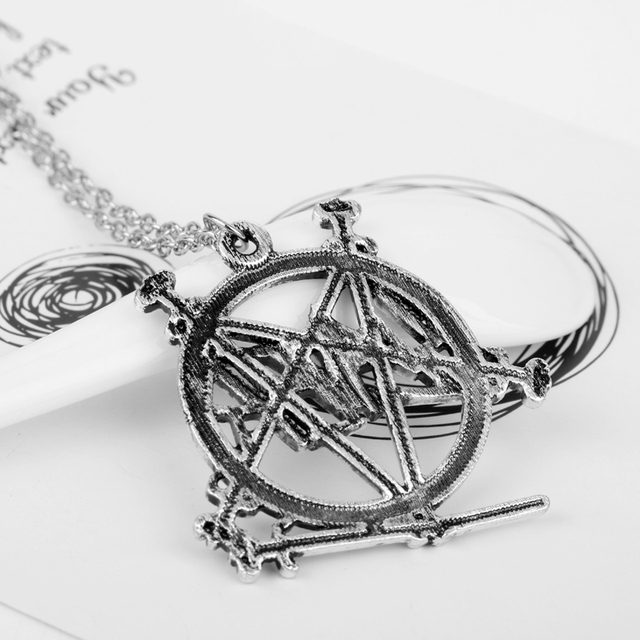 Slayer Pentagram Band Logo Pendant Necklace For Music Fans 5