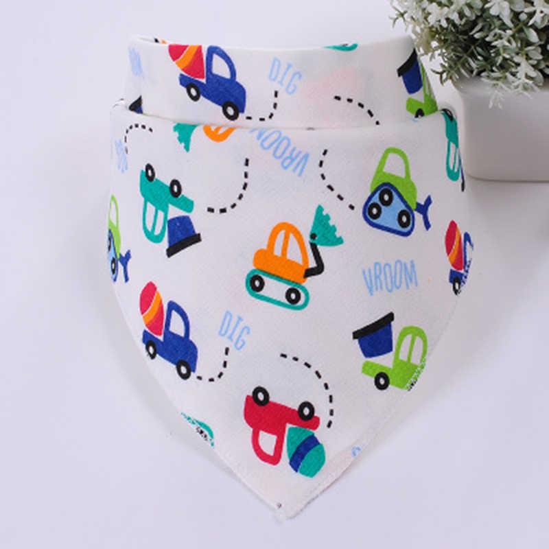 LANMUSUNG Baberos de bebé triángulo de algodón de dibujos animados babero infantil Baberos bufanda para niños babero de bebés pañuelo para bebés bebe babador