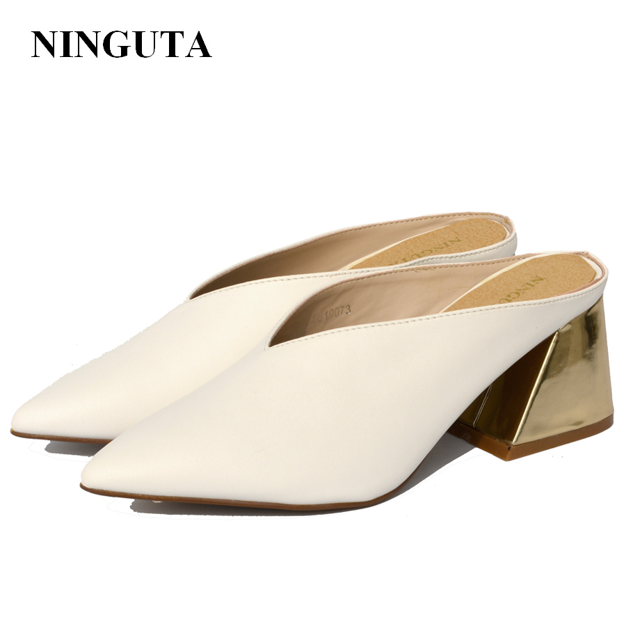 NINGUTA eté chaussures à talons chaussures femme pompes à la mode pour la fête