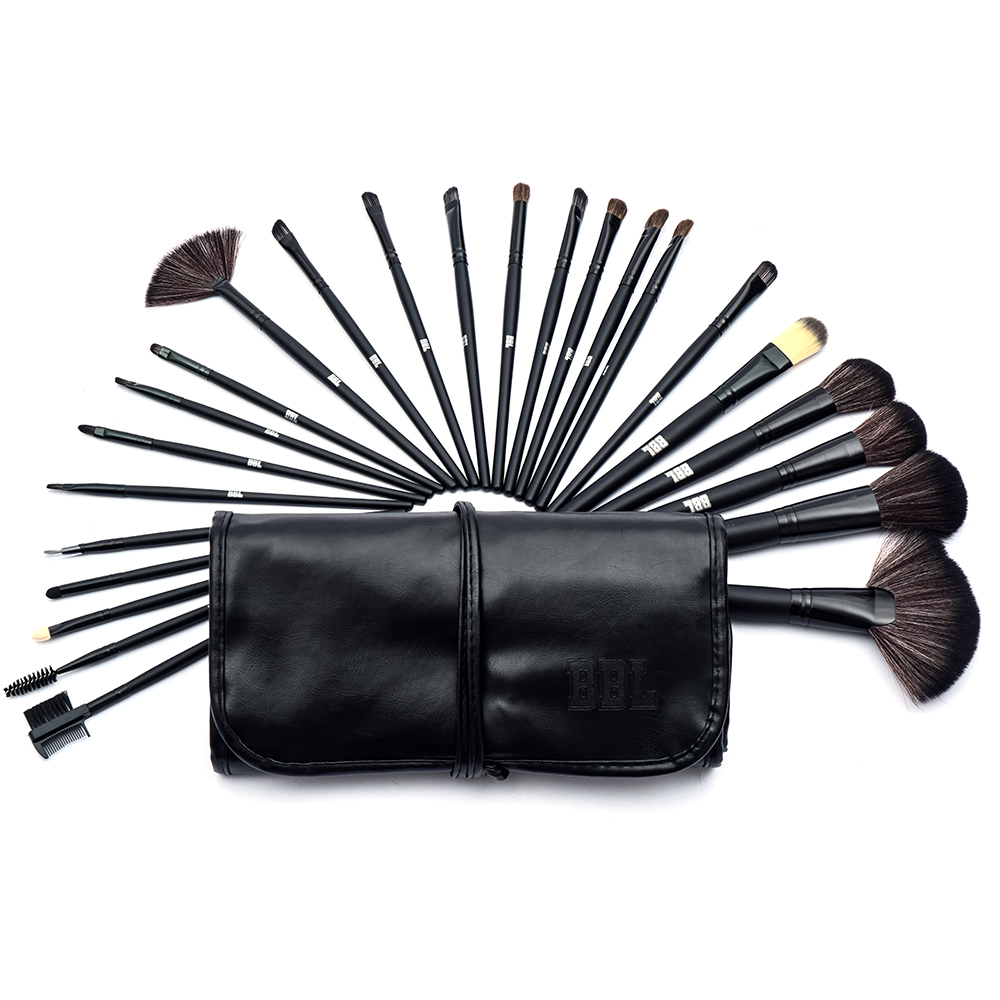 BBL 24pcs Professional Makeup Brushes Set Women Eyeshadow Foundation Powder Contour Face Brush Cosmetic Makeup Brush Set +PU Bag new design stamp seal shape face makeup brush foundation powder blush contour brush cosmetic facial brush cosmetic makeup tool