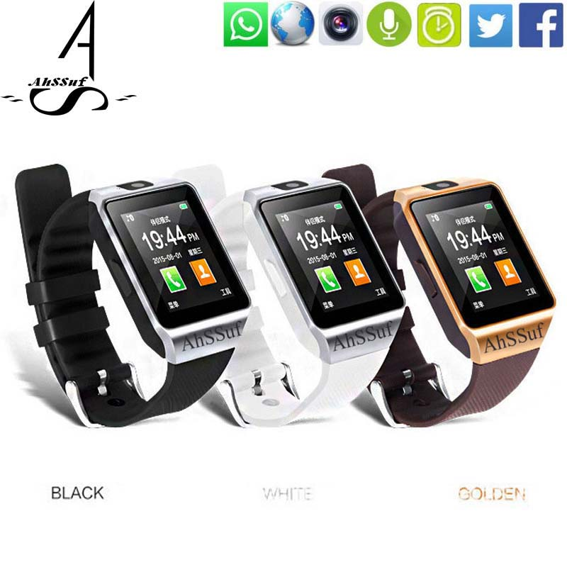 AhSSuf Wrist Watch Cell Phone Relogio Celular Con Android Watches Camera Bluetooth SIM Smart Watches DZ09