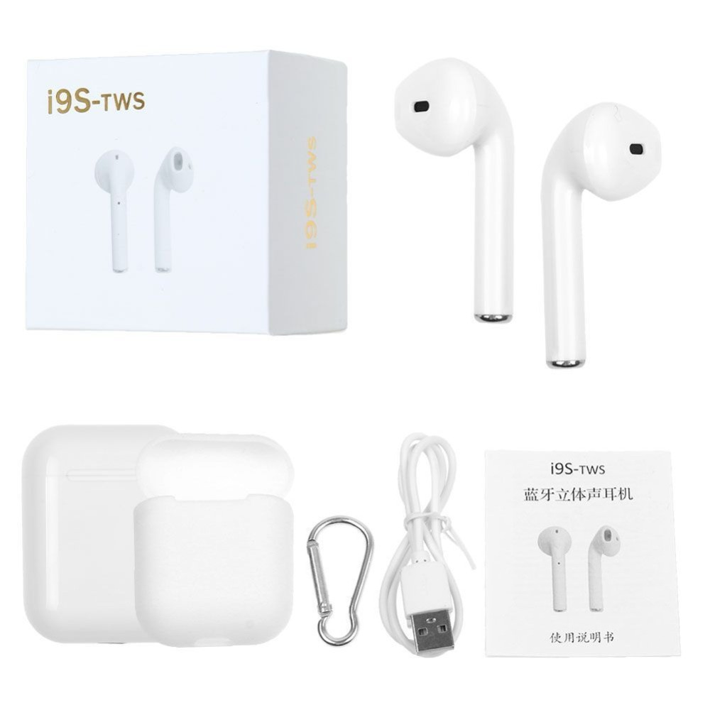 KULIAI Ifans i9s TWS Bluetooth Wireless Earphones headphone air headset pods PK meizu pop ep52 EP51 Mini Earbuds Stereo ifans ifans101 white
