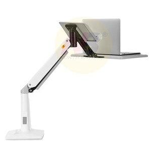 Image 4 - NB FB17 Full Motion siedzieć stojak na laptopa wsparcie składany ramię sprężyny gazowej 11 17 cal uchwyt na laptopa stojak na notebooka z podstawką na klawiaturę do montażu na