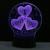 Usb criativo 3d ilusão lâmpada led luzes da noite 3d eu te amo descoloração colorido romântico lâmpada atmosfera novelty iluminação