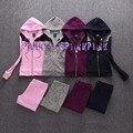 Новая мода осень женщин в. с. любовь розовый костюмы высокого качества хлопка костюм топы с капюшоном n брюки 2 шт. наборы для женщин